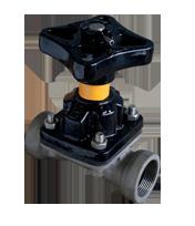 KDV Diaphragm Valve Screwed Steel - Weir type