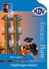 KDV Diaphragm Valve Weir type brochure
